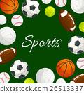 กีฬา,ลูกบอล,เวกเตอร์ 26513337