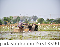 Thai farmer on small tractor 26513590