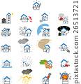 벡터, 주택, 보험 26513721