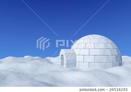 Igloo eskimo icehouse under blue sky 26516293