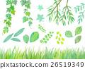 수채화 일러스트 녹색 세트 26519349