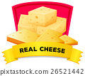 Label design with real cheese 26521442