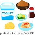 유산균을 포함한 식품의 일러스트 세트 26522191