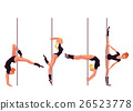 Set of four young pole dance women 26523778