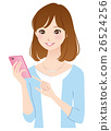 Young lady smaho mobile phone 26524256