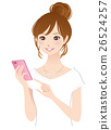 Young lady smaho mobile phone 26524257