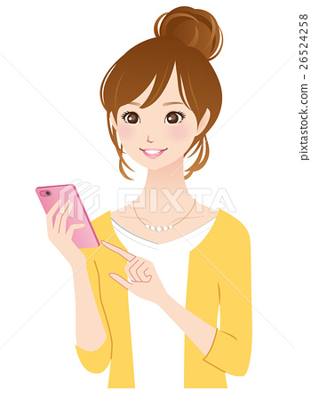 Young lady smaho mobile phone 26524258