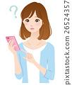 年轻的女士smaho手机问题 26524357