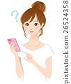 年轻的女士smaho手机问题 26524358