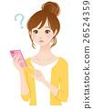 年轻的女士smaho手机问题 26524359