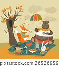 เวกเตอร์,หมี,กระต่าย 26526959