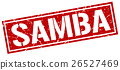 samba square grunge stamp 26527469