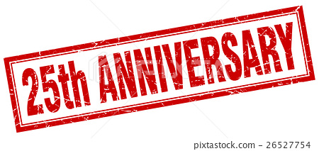 25th anniversary square stamp 26527754
