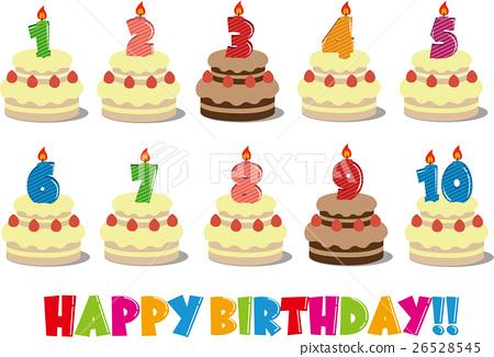Amazing Birthday Cake Illustration 1 10 Years Old Stock Illustration Funny Birthday Cards Online Amentibdeldamsfinfo