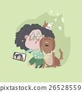 girl selfie dog 26528559