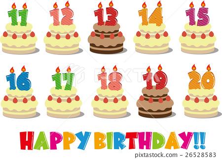 Marvelous Birthday Cake Illustration 11 20 Years Old Stock Illustration Personalised Birthday Cards Arneslily Jamesorg