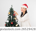 ผู้หญิงแต่งต้นคริสต์มาส 26529428