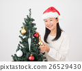 ผู้หญิงแต่งต้นคริสต์มาส 26529430