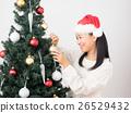 ผู้หญิงแต่งต้นคริสต์มาส 26529432
