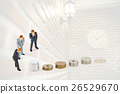 miniature businessmen with coins 26529670