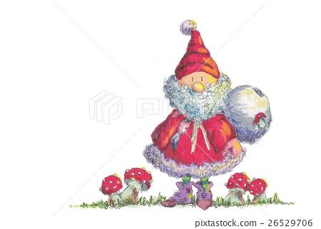 圣诞老人 圣诞老公公 蘑菇 26529706