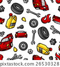 Car repair seamless pattern with service objects 26530328