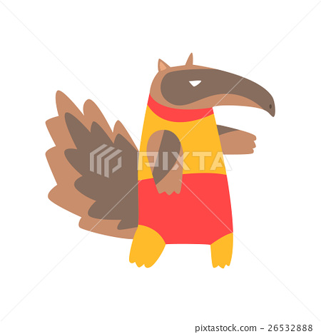 Anteater Animal Dressed As Superhero With A Cape 26532888