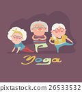 Senior people doing yoga exercise 26533532