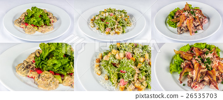 three salads for christmas table 26535703