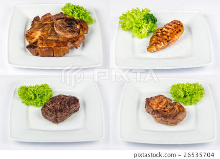 steak of different meat type image set 26535704
