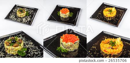 three salads for christmas table 26535706