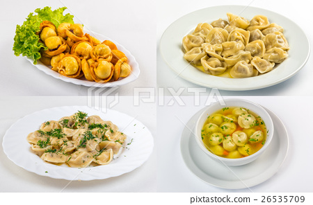 meat dumplings in different conditions image set 26535709