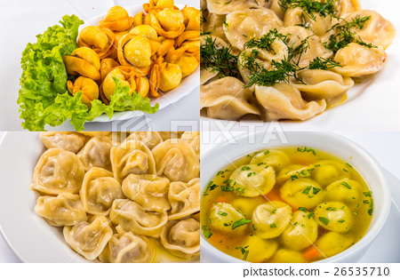 meat dumplings in different conditions image set 26535710
