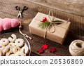 Beautifully wrapped Christmas presents, studio 26536869