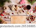 Christmas composition, studio shot, wooden 26536885