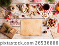 Christmas composition, studio shot, wooden 26536888