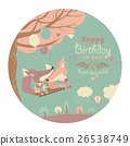 vector, birthday, fox 26538749