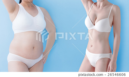 fat woman and slim woman 26546606