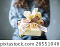 선물을 전달 젊은 여성 26551046