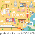 Tokyo travel map in flat illustration. 26553526