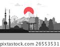 日本 东京 矢量 26553531