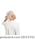 puzzled older woman scratching her head 26553742