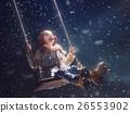 kid on dark background 26553902