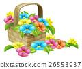 Basket of Flowers Design 26553937