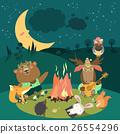 篝火 动物 营地 26554296