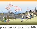 ukiyo-e, nakasendou, cherry blossom 26556607