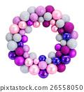 Christmas wreath with glass balls 26558050