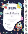 Diploma Cartoon Vector Template 26558582