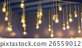 Lamps of different sizes and shapes. Bulbs hanging 26559012