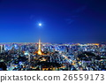 도쿄 야경 [고층 빌딩 도쿄 타워] 26559173
